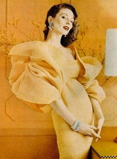 Suzy Parker in evening wear, 1950s.