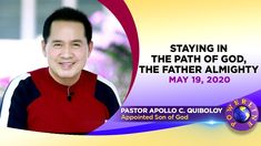 POWERLINE: Pananatili sa Landas ng Dios, ang Makapangyarihang Ama by Pastor Apollo C. Quiboloy Know more about the ministry of the Appointed Son of God. Spiritual Enlightenment, Spirituality, Thank You Pastor, Disciple Me, Kingdom Of Heaven, Great Leaders, Son Of God, Apollo, Gods Love