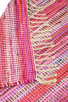 Loom Weaving, Recycled Fabric, Woven Rug, Handicraft, Knitting, Crochet, Rag Rugs, Cherry, Carpet