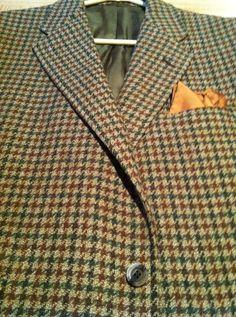 """ Hunter Haig""A Stylish Shetland Wool Houndstooth Multi Color SPT Coat 41R | eBay"