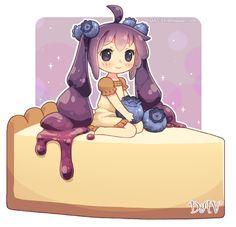 Blueberry Cheesecake by DAV-19.deviantart.com on @deviantART