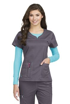 aa5602798ad MC2 Lexi Top from Med Couture Scrub Shop Red Scrubs, Scrubs Uniform, Scrubs  Outfit