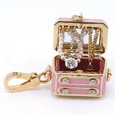 "Juicy Couture Pink ""Jewelry Chest"" Charm"