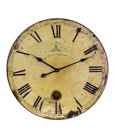 24 Inch French Grand Gallery Large Wall Clock Antique