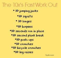 great at home workout to get your blood goin'! #fitfluential