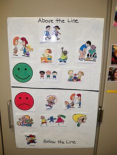 above the line/below the line - perfect visual for implementing and reviewing for PBIS