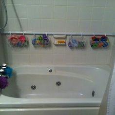 Storage solution for bath tub