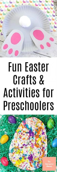 From bunny butts to free Easter printables, if you are looking for Easter crafts and activities for preschoolers, you've come to the right place! #artsandcrafts