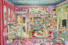 Ravensburger The Candy Shop 1000 Piece Jigsaw Puzzle for Adults – Every Piece is Unique, Softclick Technology Means Pieces Fit Together Perfectly Free Cross Stitch Charts, Dmc Cross Stitch, Fantasy Cross Stitch, Cross Stitch Books, Cross Stitch Patterns, Stitching Patterns, Cross Stitching, 300 Piece Puzzles, Puzzle Pieces