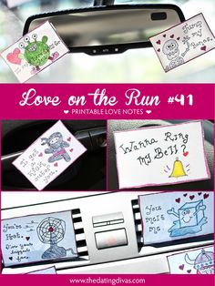 Sprinkle these cute love notes ALL over your man's office or car for a FUN surprise! www.TheDatingDivas.com #loveontherun #cutelovenotes #quickandeasy