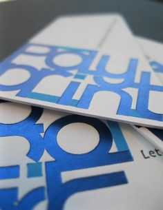 business card polyprint (hot foil+letterpress) by Polyprint24, via Flickr