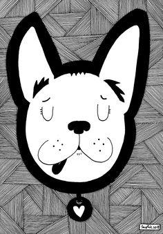 The bulldog on Behance Art Direction, Art Drawings, Pikachu, Behance, Illustrations, Ink, Fictional Characters, Illustration, Fantasy Characters