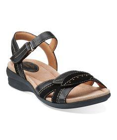 Look at this #zulilyfind! Black Reid Timber Leather Sandal #zulilyfinds $49.99, regular 90.00