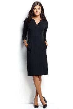 Women's 3/4 Sleeve Ponté Sheath Dress from Lands' End