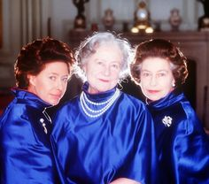 Her Majesty,  with the Queen Mother and her sister, Princess Margaret