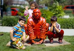 """""""meeting by Chinese sculptor Wang Shugang, is an sculpture that resides publicly at NewQuay, Docklands. Newquay, Chinese, Sculpture, This Or That Questions, Artwork, Artist, Painting, Work Of Art, Artists"""