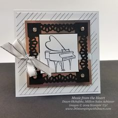Music from the Heart: Million Sales Achiever Dawn Olchefske 17 Music from the Heart samples by Dawn Olchefske, Stampin' Up! Million Sales Achiever - coming Jan 2020 Up Music, Music Notes, Alphabet Stamps, Stampinup, Heart Cards, Stampin Up Cards, Note Cards, Cardmaking, Birthday Cards