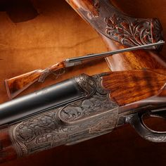 TR's Fred R. Adolph Double Rifle- This Adolph double rifle bears the Presidential seal on both barrels and is attributed to use by President Theodore Roosevelt on western hunting excursions.