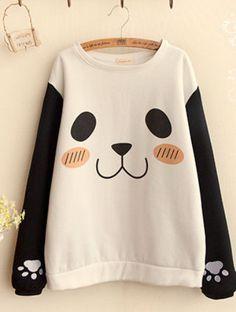 Kawaii panda paw print sweatshirt. Is is bad I'd wear this underneath my panda…