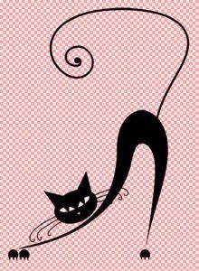 Black-cat-fifties-style