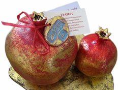 Composition with pomegranates (ceramics, golden potal), unique, stamped by artist #Art #ceramics #decor #design #Home #artstudio #decoration #декор #керамика #гранат #декоринтерьера | Ceramics for Home Decor