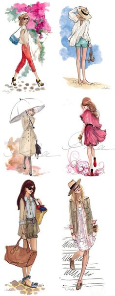 Hand-painted fashion girl