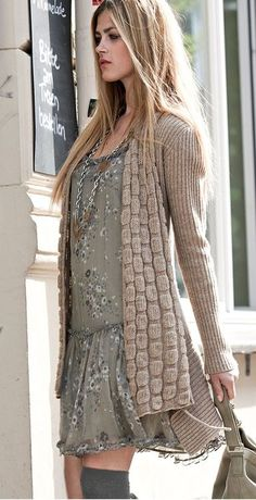 Love the dress! Where can I get that?  27 Cozy Knitwear Looks for the Fall