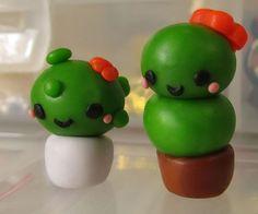 Cactus piantine plants cute kawaii cernit fimo handmade polymer clay