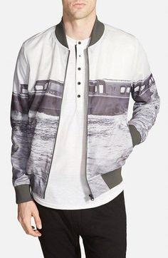 G-Star Raw 'Yoshem Raw' Ferry Print Mesh Bomber Jacket - That should be mine!