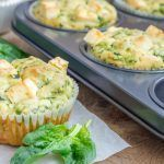 Cheddar spinach muffins might sound a little strange, but once you try this recipe, you'll be adding it to your list of favorites! Cheesy golden muffins are a fantastic breakfast item or even a delightful snack. Breakfast And Brunch, Breakfast On The Go, Low Carb Breakfast, Easy Healthy Breakfast, Healthy Snacks, Breakfast Recipes, Breakfast Ideas, Breakfast Frittata, Breakfast Spinach