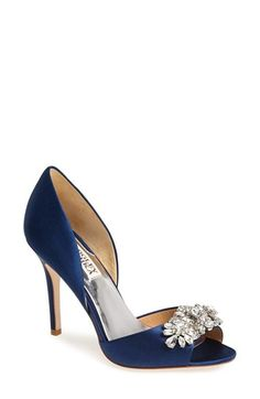 Free shipping and returns on Badgley Mischka 'Giana' Satin d'Orsay Pump (Women) at Nordstrom.com. An array of sparkling crystals will catch the light <i>just so</i> each time you take a step across the room in an elegant peep-toe d'Orsay pump.