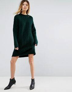 #ASOS #Oversized Knitted #Dress with Cable Detail #fallfashion #winteroutfits #plussize Jumper Dress, Knit Dress, Asos Dress, Winter Outfits For Work, Cardigan Sweaters For Women, Latest Dress, Dress Outfits, Dresses, Autumn Fashion