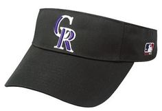 """Colorado Rockies Officially Licensed MLB Adjustable Velcro Adult Visor by Visor. $9.49. Pre- Curved Bill. Made by OC Sports. 100% Cotton Twill. Official MLB Licensed Baseball Visor. Adjustable Velcro Fit. Show your team spirit every day with this Authentic Official MLB Licensed visor. These 100% cotton twill visors are made by OC Sports and feature a 3D logo on a 2 1/4"""" crown. They also have a Pre- Curved Bill with Adjustable Velcro Fit with the team name. The..."""