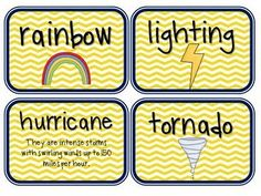Weather Cards--made by a second grade teacher. Do you know any second graders?  May be a little hard.