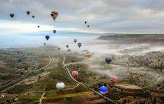 Good Morning From Cappadocia , Hot Air Balloons, Sky ,Flying