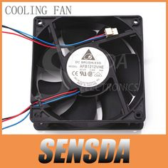 Free Shipping For Delta AFB1212VHE 120mm 12cm DC 12V 0.90A 3-pin 3-wire server inverter axial blower cooler cooling fan