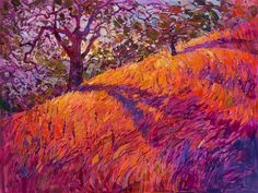 Paso Robles wine country oil painting by contemporary expressionism painter Erin…