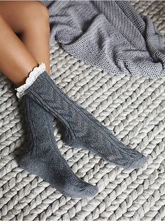 Free People Speckled Highland Bootsock, $14.00
