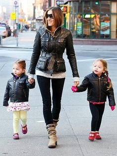 I'm obsessed. Chicest little toddlers on the planet, but is anyone really surprised, considering who their mom is?