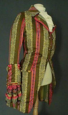 Mode Louis XV, le costume masculin de 1723 à 1774.