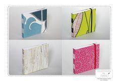 Notebooks made of left over wallpapers / Muistikirjoja ylijäämätapeteista