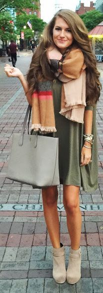 Plaid Scarf Fall Inspo by Southern Curls and pearls