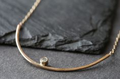 Image of Arc Diamond Necklace