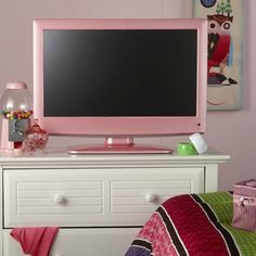 Pink tv. For when we finally get her room completed, then she can decide she wants it changed the next day!