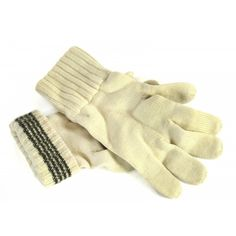 Austrian Army wool glove. A nice off white color. Used in very good condition. You get three of these for only $9.99.