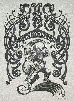 Heimdall Norse Heathen Pagan Celtic Nordic God Rune Crew T-Shirt Choice of Shirt and Ink Colors Rune Tattoo, Norse Tattoo, Viking Tattoos, Wiccan Tattoos, Inca Tattoo, Tattoo Symbols, Viking Tattoo Design, Norse Pagan, Norse Symbols