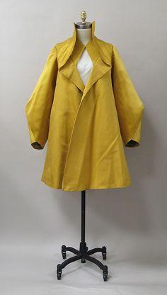 Coat, Charles James, 1947, silk. -The Metropolitan Museum of Art. 2013.383