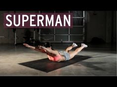 How to Perform the Superman Core Exercise. The superman core exercise is a medium-intensity exercise that strengthens your lower back and core muscles by isolating them as you lift your arms and legs off the floor. Oblique Workout, Abs Workout Video, Fitness Motivation, Fitness Routines, Full Body Workouts, Ab Workouts, Fitness Workout For Women, Body Fitness, Workout Men