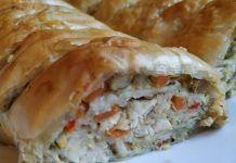 Νόστιμη κοτόπιτα σε ρολό Cookbook Recipes, Cooking Recipes, Spanakopita, Desert Recipes, Deserts, Turkey, Chicken, Ethnic Recipes, Food