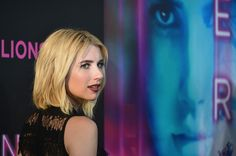 "Actress Emma Roberts lovely nose in profile promoting film the ""Nerve"" New York Premiere at SVA Theater on July 12, 2016"